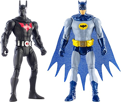 Super Hero Batman Arkham City Batman Beyond vs Batman '66 4-Inch Action Figures Toys, 2 Pack