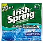 Irish Spring Deodorant Bar Soap, Moisture Blast, 3.75 Ounce Bars, 20-Count Package