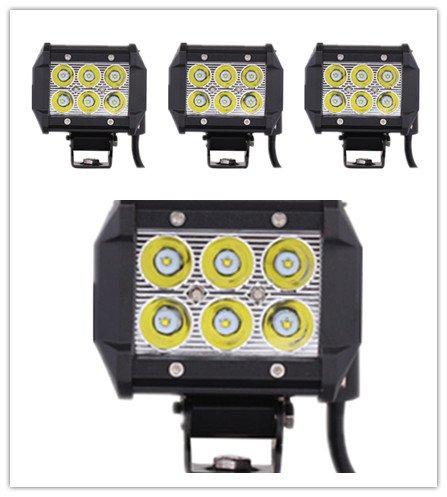 "4 X 4"" 18W Cree Led Spot Beam Work Light Vehicle Headlight Driving Fog Light"