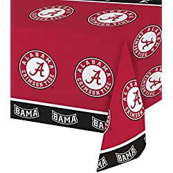 Crimson Tide Collegiate Plastic Tablecover, 54 x 108-Inch, University of Alabama