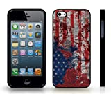 Historic Battle of Iwo Jima and USA Flag Graphic Design Snap-on Cover Hard Carrying Case for iPhone 4/4s (Black)