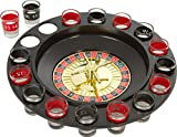 DivineXt Shot Glass Roulette - Drinking Game Set (2 Balls and 16 Glasses)