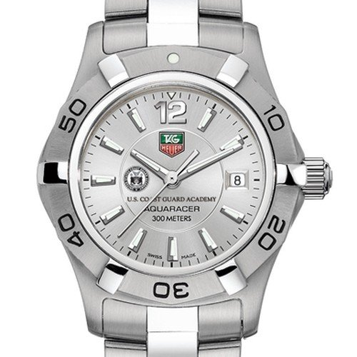 TAG HEUER watch:US Coast Guard Academy TAG Heuer Watch - Women's Steel Aquaracer at M.LaHart Images