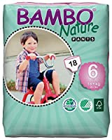 Bambo Nature Premium Baby Diapers, Training Pant, Size 6, 18 Count