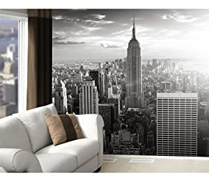 fototapete fototapeten tapete tapeten manhattan skyline 300x280cm inkl kleister new. Black Bedroom Furniture Sets. Home Design Ideas