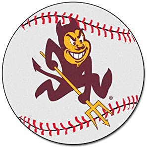 FANMATS NCAA Arizona State University Sun Devils Nylon Face Baseball Rug by Fanmats