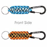 Dimples Excel 550lb (250 kg) Survival Paracord Keychains with Carabiners (2 Pack)