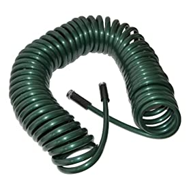 Plastair SpringHose Deluxe PUW875B94H-AMZ 75-Foot 1/2-Inch Polyurethane Coil Garden Hose - Green