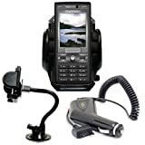 Shop4accessories Car Kit: Windscreen Suction Mount Holder and In Car Charger for the Sony Ericsson K800i / K810i