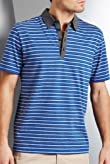 Autograph Pure Cotton Marl Stripe Polo Shirt [T28-4613A-S]