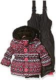 Pink Platinum Girls Infant Fair Isle Print Snowsuit, Black, 12 Months