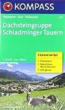 Dachsteingruppe - Schladminger Tauern: Wanderkarten-Set mit Panorama und Naturführer. GPS-genau. 1:25000