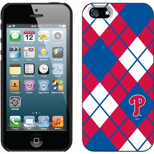 Special Sale Philadelphia Phillies - Argyle design on a Black iPhone 5 Thinshield Snap-On Case by Coveroo