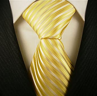 Neckties By Scott Allan - Mens Yellow Tie