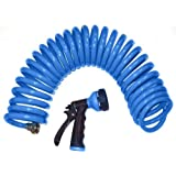 Orbit 27890 25-Foot Blue Coil Hose & Spray Nozzle