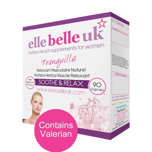 Elle Belle UK - Tranquille - Period Pain Relief - Herbal Remedy For Muscle & Menstrual Cramps - 90 Capsules - Free UK Delivery