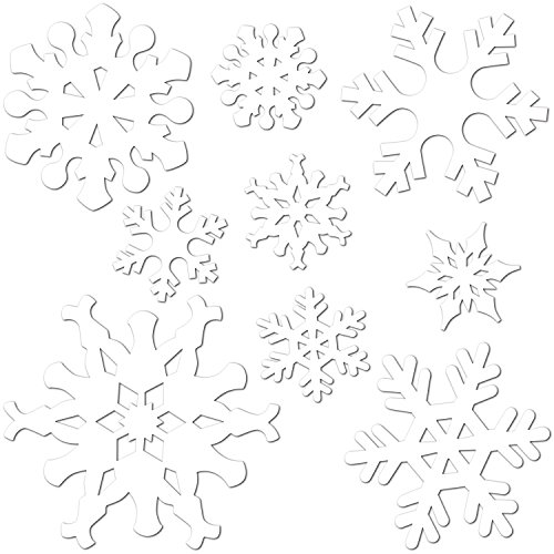 Beistle 9-Pack Snowflake Cutouts for Parties, Assorted - 1