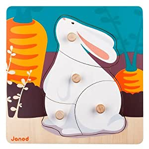 Janod - 07003 - Puzzle Lapin