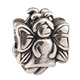 Angel .925 Sterling Silver charm Fits One Pandora, Biagi, Troll, Chamilla and Many Other European Charm #EC483