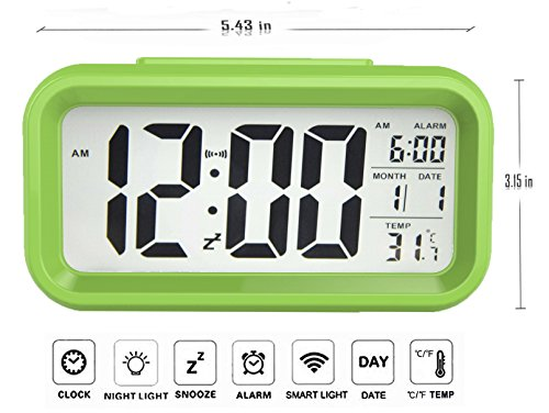 gloue digital alarm clock battery operated kids 39 room. Black Bedroom Furniture Sets. Home Design Ideas