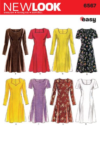 New Look Sewing Pattern 6567 Misses Dresses, Size A (6-8-10-12-14-16) (New Sewing Patterns compare prices)