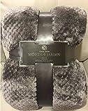 Monte & Jardin - Jacquard Velvet Blanket King - Dark Gray