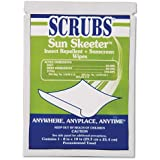 SCRUBS 91501 Sun Skeeter Insect Repellent And Sunscreen Wipe