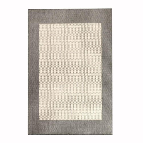 Checked Black Grey Rug: ++Checkered Field Area Outdoor Area Rug, 5'10′x9'2″, GRAY