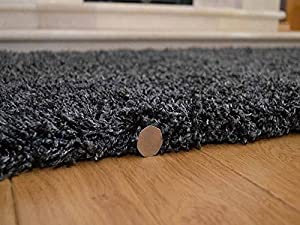 Shaggy Thick Modern Luxurious Charcoal Dark Grey Gray Rug High Pile Long Pile Soft Pile Anti Shedding Available in 9 Sizes from SuperRugStore