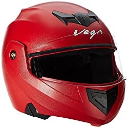 Vega Crux Flip-up Helmet (Red, M)