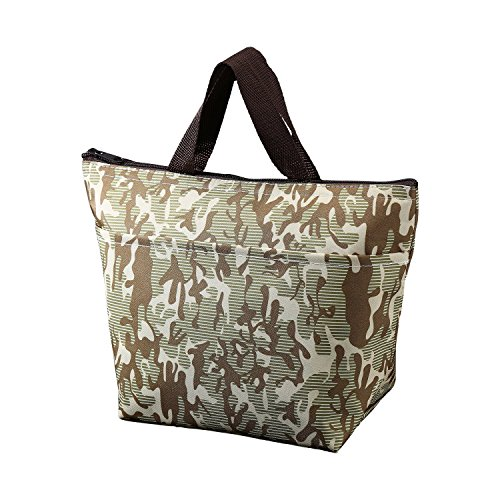 Printing Lunch Bags, LHome Oxford Cloth Aluminum Foil Insulated Zip Cooler Bag Portable Takeaway Aluminum Film Pack Cooler Bag Lunch Box Package (Army Green) (Personalized Cooler Tote compare prices)