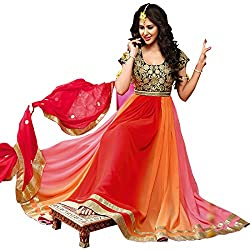 Best Seller Adah Fashions Flamboyant Unstitched Georgette Salwar Kameez 553-8111