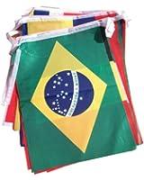9.5M Guirlande BRÉSIL 2014 Drapeaux COUPE DU MONDE DE FOOTBALL - Taille de drapeau: 20cm x 28cm