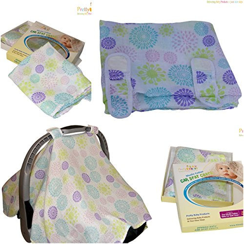 baby car seat covers to protect from bugs dust xl soft muslin cotton canopy for boys blue. Black Bedroom Furniture Sets. Home Design Ideas