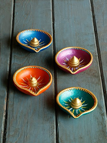 store-indya-colorful-gold-accented-handmade-earthen-clay-terracotta-decorative-diyas-oil-lamps-with-