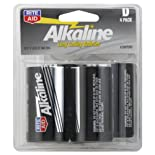 Rite Aid Batteries, Alkaline, D, 1.5 Volts, 4 Pack 4 batteries