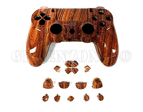 greenzone-r-ps4-woodgrain-playstation-4-replacement-controller-shell-matching-buttons-mod-kit-uk-com