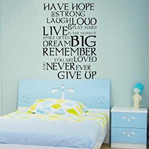 life inspirational quote wall sticker art letter decal