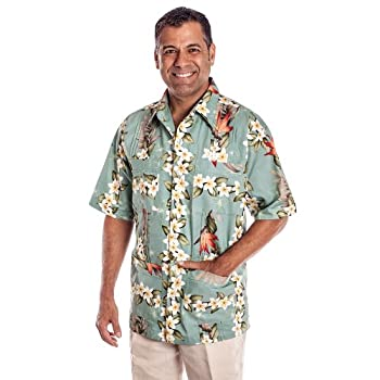 Sage Bird of Paradise Hawaiiabera Shirt
