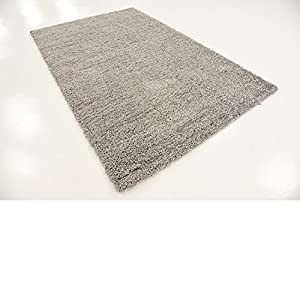A2Z RUG SOFT SUPER THICK SHAGGY RUGS Silver 100X60 CM - 3.3X2 FT AVAILABLE IN 6 COLOURS AND 8 SIZES AREA RUGS from A2Z Rug