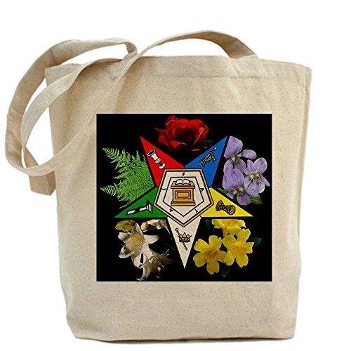 CafePress Eastern Star Floral Emblem - Tote Bag - Standard Multi-color