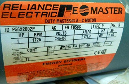 Ac Motor, 1 Hp, 1725 Rpm, 3 Ph, Fb56C Fr, Nnb
