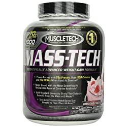 Funny product Muscletech Mass Tech Powder - Strawberry Milkshake, 5-pound