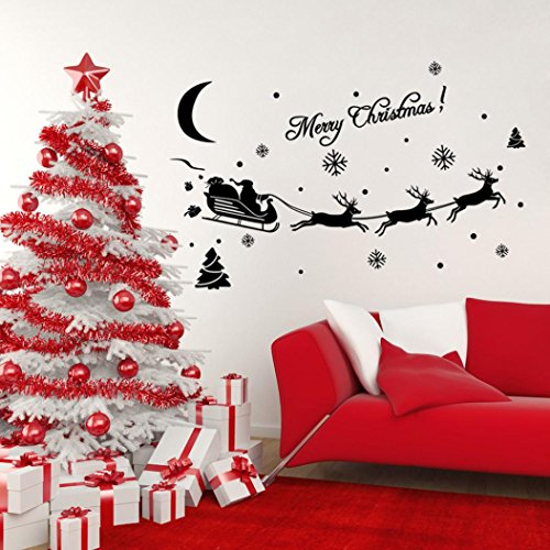 Wall sticker,SMTSMT Christmas Decoration Decal Window Stickers (Black)