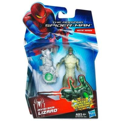 Amazing SpiderMan Movie 3.75 Inch Action Figure InvisiSkin Lizard Water Blast... by Hasbro
