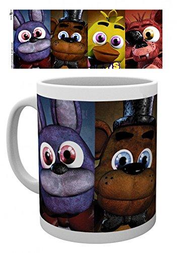 Set: Five Nights at Freddy's, Faces Tazza Da Caffè Mug (9x8 cm) E 1 Sticker Sorpresa 1art1®