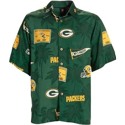 Reyn Spooner Green Bay Packers Green Hawaiian
