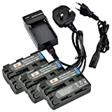 DSTE® (3-pack) NP-FM500H Rechargeable Li-ion Battery + Charger DC01U for Sony a200, a300, a350, a700, Alpha a58, Alpha a99, DSLR-A100, DSLR-A100/B, DSLR-A100H, DSLR-A100K, DSLR-A100K/B, DSLR-A100W, DSLR-A100W/B, DSLR-A200, DSLR-A200K, DSLR-A200W, DSLR-A2