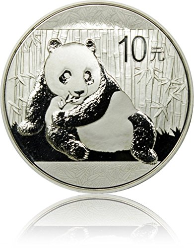 China (Chinese) 10 Yuan 2015, Panda 0.9999 Pure 1 Silver Oz (Ounce), BU Proof