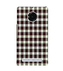 Fiobs brown chequered Back Case Cover for YU YUNIC